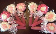Baby Washcloth spoon/ fork flower lollipop