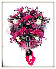 Halloween Wreath - Halloween Witch Wreath - Halloween Witch - Witch Decor…