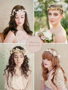 These flower crowns are simply lovely, my favorite is the last one, it looks so elegant and magical. (via Head Over Heels For: Flower Crowns | Green Wedding Shoes Wedding Blog | Wedding Trends for Stylish Creative Brides)