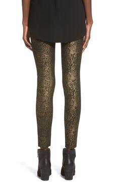 Love - need the perfect black top.    Hue Metallic Python Print Ponte Leggings