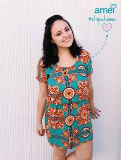 Novidades verãonisticas  #lojaamei #vestido #cor #verao #leve #etiquetaamei #turquesa
