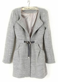 drawstring pocket coat.