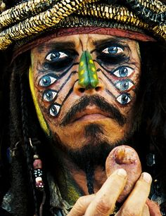Johnny Depp as Jack Sparrow in Pirates of the Caribbean: Dead Man's Chest.