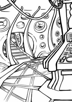 coloring pages from doctor who bing images
