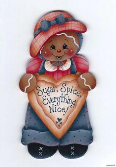 HP GINGERBREAD Sugar, Spice, Everything Nice FRIDGE MAGNET