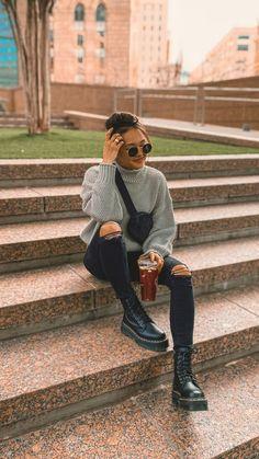 Cold Day Outfits, Trendy Fall Outfits, Warm Outfits, Casual Winter Outfits, Winter Fashion Outfits, Autumn Fashion Uk, Casual Fall Fashion, Cold Winter Fashion, Winter Street Fashion