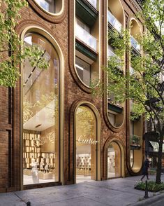 Design Cartier store in Manhattan, New York / Commercial building / mix use. Design and Visualization by A.Masow Architects Design Cartier store in Manhattan, New York / Commercial building / mix use. Design and Visualization by A. Architecture Arc, Cultural Architecture, Commercial Architecture, Amazing Architecture, Architecture Details, Facade Design, Exterior Design, Town Country Haus, Retail Facade