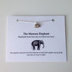Friendship Necklace: Silver palted Memory Elephant Charm Necklace. Birthday, Bridesmaid, Anniversary, Best Friend Necklace! Stocking Filler by PetitePolly on Etsy https://www.etsy.com/listing/239980717/friendship-necklace-silver-palted-memory