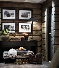 There are numerous ways to make your home interior design look more interesting, one of them is using cabin style design. With this inspiring gallery you can make fantastic cabin style in your home. Cabin Homes, Log Homes, Chalet Design, House Design, Design Design, Wall Design, Cabin Design, Design Styles, Casa Hipster