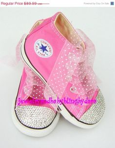 Baby Infant Toddler Crystal Bling Converse by jewelrybabyblingdara, $76.49