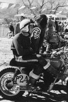 Steve McQueen racing on his Husqvarna motorcyle at Indian Dunes circa Motocross Bikes, Vintage Motocross, Vintage Bikes, Vintage Motorcycles, Steve Mcqueen Motorcycle, Steeve Mac Queen, Steven Mcqueen, Idole, Motorcycle Style