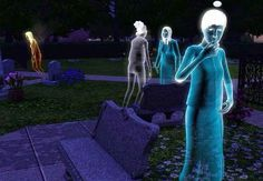 """14 Funny, Sadistic, And Appalling Things Gamers Have Done In """"The Sims"""" I kind of want to do this one! A church w/graveyard and a caretaker."""
