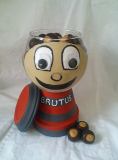 Items similar to 40 homemade and handmade tasty, beautiful buckeyes in this adorable Brutus candy dish on Etsy