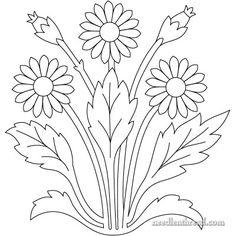 Free Hand Embroidery Pattern - Art Needlework Daisies