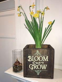 "Board & Brush wooden ""bulb box""! Follow Board & Brush-Little Rock, AR to learn more! https://boardandbrush.com/littlerock"