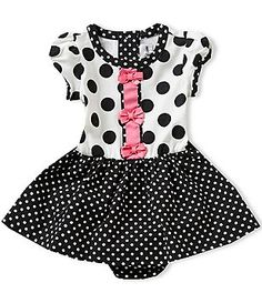 Rare Editions Baby Girls 3-24 Months Large/Small-Dotted Dress