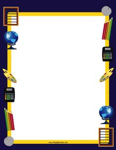 Great for school pictures, this printable supplies border ...