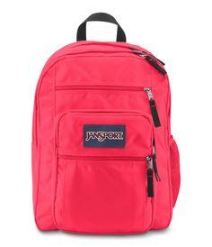 Jansport Big Student Backpack - Fluorescent Red Locker Organization a22009b2866db