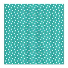 Turquoise Polka Dotted Shower Curtain