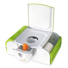 3028d2d819d Boon Potty Bench Training Toilet with Side Storage in Green Baby Potty