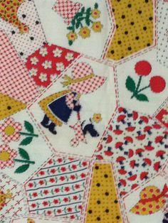 Vintage Sunbonnet Sue fabric  OOP by KoopsKountryKalico on Etsy, $7.99