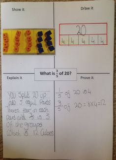 Great strategies for finding fractions of a number - C>P>A