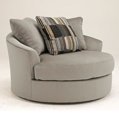 Signature Design by Ashley Lake Ann Oversized Round Swivel Chair