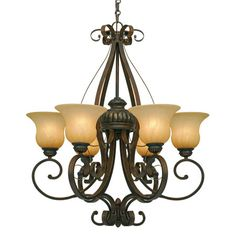 Buy the Golden Lighting LC Leather Crackle Direct. Shop for the Golden Lighting LC Leather Crackle Mayfair 6 Light Chandelier and save. Metal Chandelier, Chandelier Lighting, Chandeliers, Thing 1, Dining Room Lighting, Kitchen Lighting, Shop Lighting, Lighting Ideas, Glass Shades