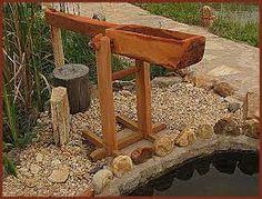 Resultado de imagem para bancos rusticos de madeira para jardim