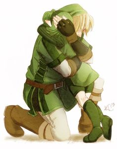 But the ocarina given to him by Saria just disappears when he gets his blue one. He literally trashed the thing