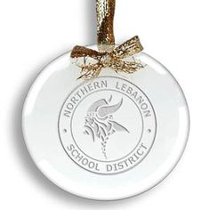 Clear Laser Etched Circle Ornament