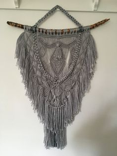 Macrame wall hanging by PrettyHarbor on Etsy