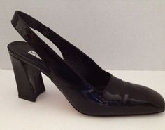 Via Spiga Shoes Womens Slingbacks #Heels Size 7.5 AA Narrow Black 7 1/2 Italy #ViaSpiga #Slingbacks