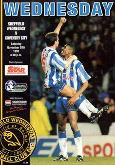 20 November 1993 v Sheffield Wednesday Drew 0-0