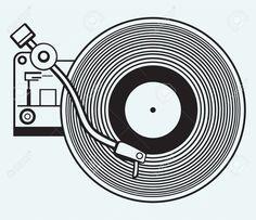 record player silhouette - Google Search