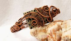 Copper Woven Wire 3Helix Bracelet with by ggChambersDesigns, $55.00