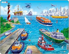 Larsen Harbour Puzzle 35 Piece >>> Click on the image for additional details. (Note:Amazon affiliate link)
