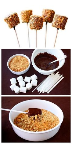 DIY S'mores Pops