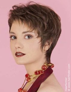 short haircut with elegant styling
