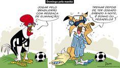 Charge do Dum (Zona do Agrião) sobre as novas rotinas de Atlético e Cruzeiro (22/05/2016). #Charge #Dum #Cruzeiro #Atlético #HojeEmDia
