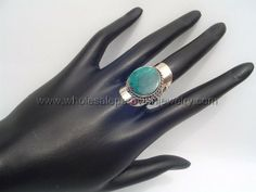 Green Turquoise Ring. Click the link to purchase our unique handmade Peruvian jewelry at awesome wholesale prices (includes shipping & insurance!)  Make money with your own online or offline business selling Peruvian Jewelry or save big on beautiful gifts for yourself or that special someone! Click here:  http://www.wholesaleperuvianjewelry.com/