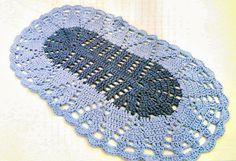 tapete croche oval bicolor em croche com receita