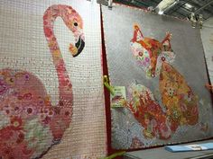 These collage quilts are adorable. Check out the best of QuiltWeek 2015 >> http://blog.diynetwork.com/maderemade/2015/08/21/simply-the-best-of-quiltweek-2015/?soc=pinterest