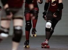 Skating on one foot is an essential roller derby skill.