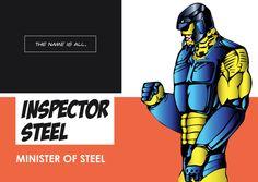 Inspector Steel as a Minister of Steel Indian Comics, Comic Character, Super Powers, Comic Art, Iron Man, Politics, Steel, Superhero, Movie Posters