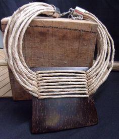Biojoias Brazil Ceramic Jewelry, Ceramic Beads, Wooden Jewelry, Leather Jewelry, Clay Jewelry, Jewelry Gifts, Handmade Jewelry, Textile Jewelry, Fabric Jewelry