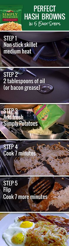 See how fresh Simply Potatoes® make it easy to enjoy perfect, golden-brown hash browns in minutes – every time. No peeling, no shredding. Find more tips and recipes at www.simplypotatoes.com.