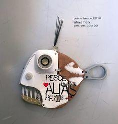 Driftwood Sculpture, Fish Sculpture, Driftwood Art, Wood Fish, Metal Fish, Recycled Decor, Art Haus, Felt Fish, Funky Painted Furniture