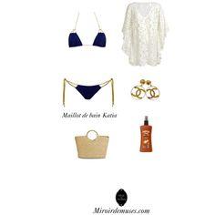 Je vais à la Plage by miroirdemuses Maillot de bain Katia (bleu) de chez Beliza pour Miroirdemsues.com #lingerie #femme #woman #luxe #luxury #mode #fashion #maillotdebain #swimwear #sea #plage #beach #playa #mer #ocean #beliza #katia #blue #bleu #miroirdemuses