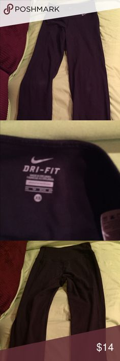 """Woman's Nike dry fit yoga pants. Mint condition Women's Nike dry-fit black yoga pants. Perfect condition (they fit me for a """"hot second years ago 🍴 😢"""". They are black size Xsmall..... Nike Pants Track Pants & Joggers"""
